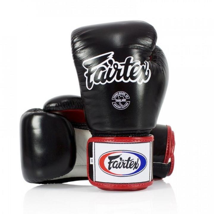 Перчатки Боксерские Fairtex BGV1 черно-бело-бордовые