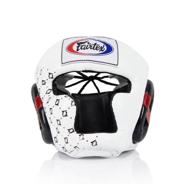 Боксерский шлем Fairtex HG10 белый