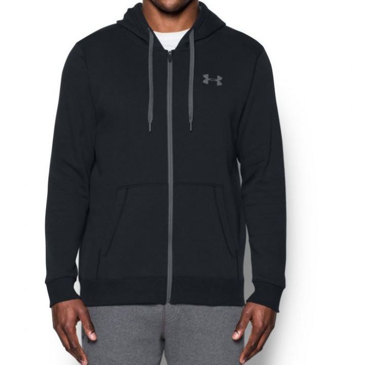 Under Armour Кофта с капюшоном Rival Fitted Full Zip Черная