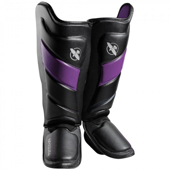 Защита голени Hayabusa T3 Striking черно-пурпурная