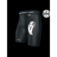 Shock Doctor Compression Shorts + BioFlex CupЧёрный