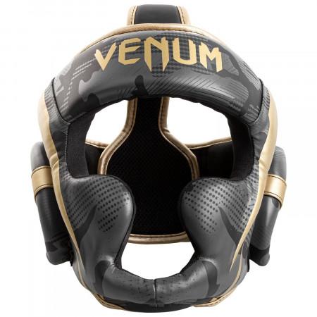 Venum Шлем Боксерский Elite Camo/Золотой