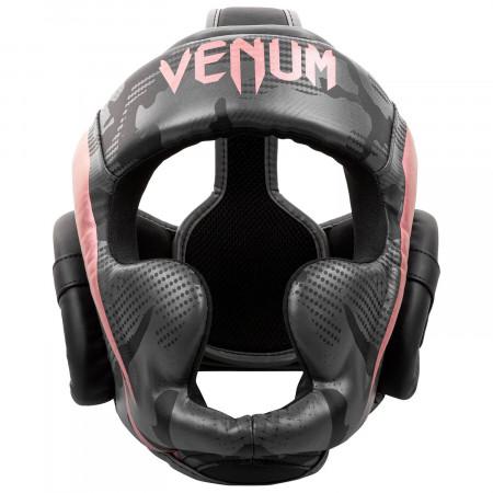 Venum Шлем Боксерский Elite Черно/Розовый