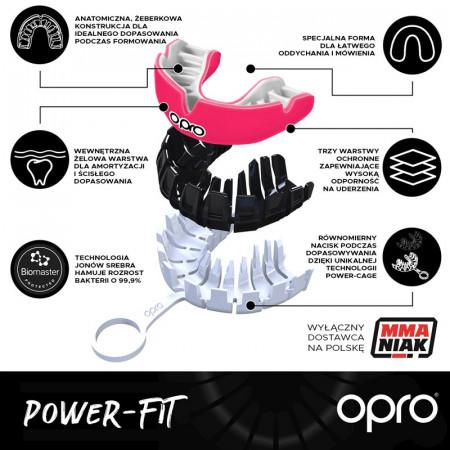 Opro Капа Power Fit Темно UFC Красно/Черно/Белая