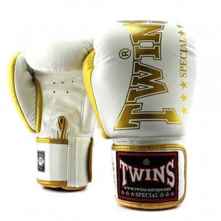 Twins Перчатки боксерские BGVL-8 Бело/Золотые