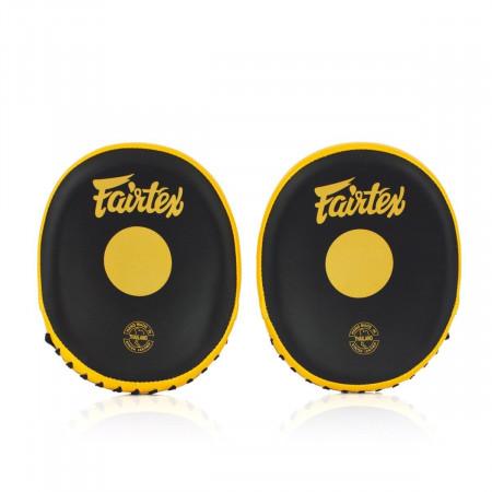 Fairtex Лапы боксерские FMV15 Черно/Золотые