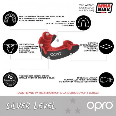 Opro Капа Детская UFC Silver Красная