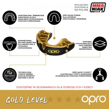 Opro Капа Детская UFC Gold Черная