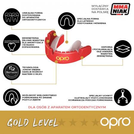 Opro Капа UFC Gold Braces Розовая (для брекетов)