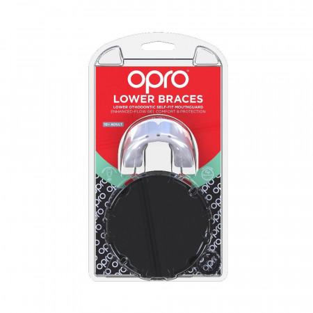 Opro Капа Для Нижней Челюсти Braces Белая (для брекетов)