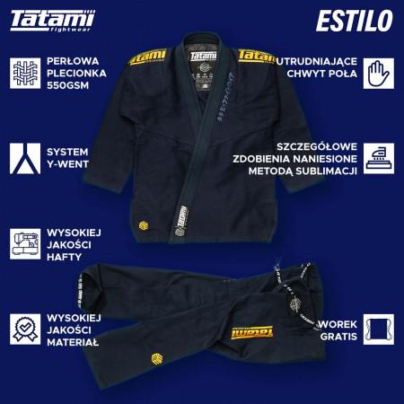 Tatami Kimono/Gi Estilo Black Label Темно синее/Золотое