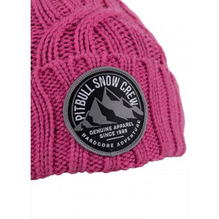 Шапка Зимняя с Помпоном Pit Bull Snow Crew Розовая
