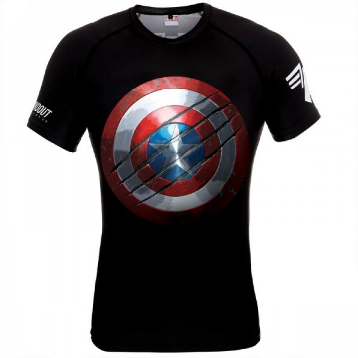 Poundout Рашгард Marvel Капитан Америка